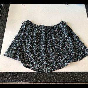 Forever 21 Black Floral Skirt